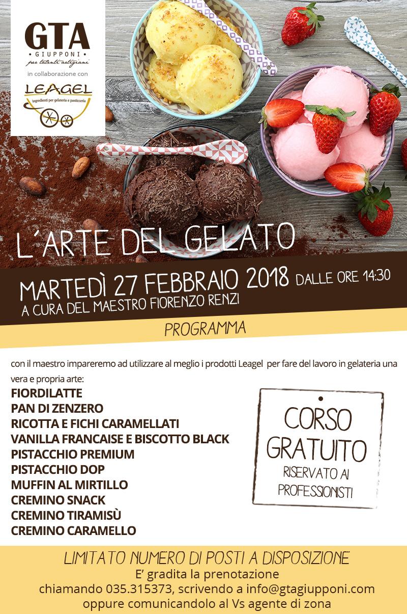27 Febbraio 2018 – L'arte Del Gelato