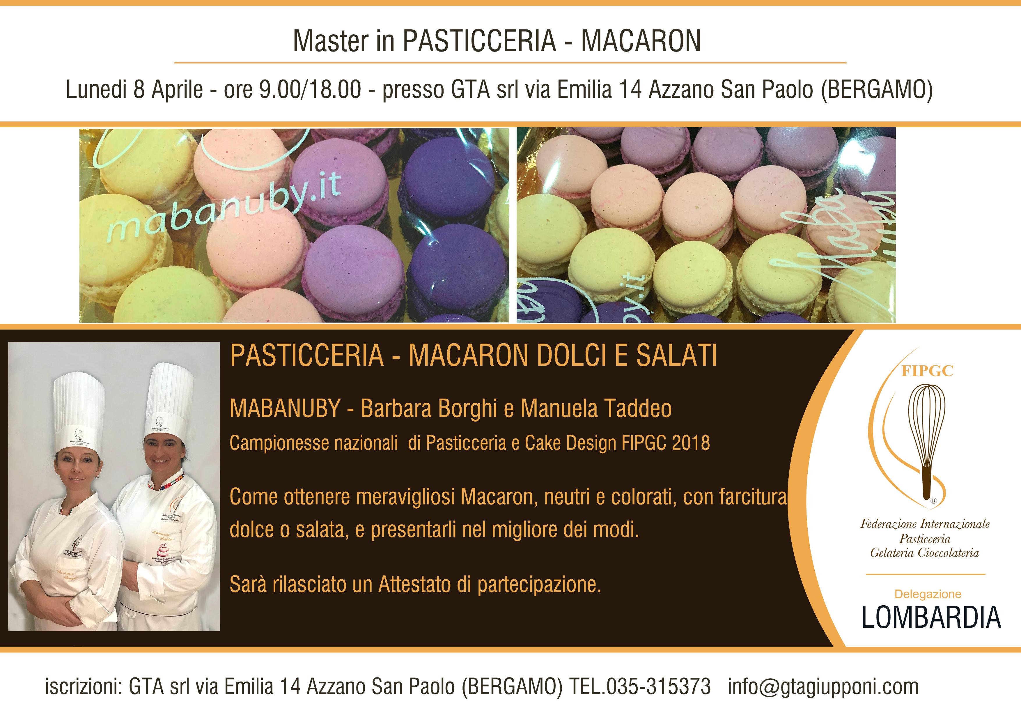 8 Aprile 2019 – Master In Pasticceria Macaron