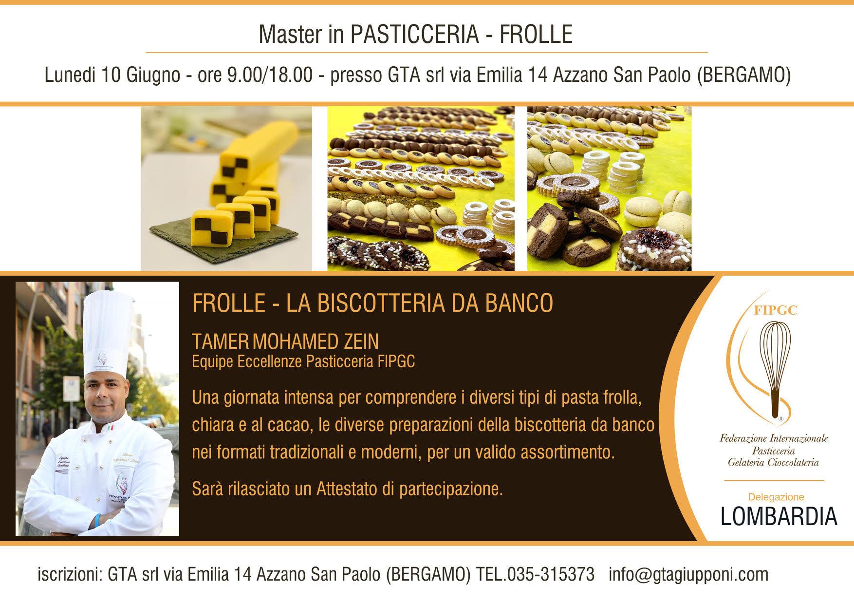 10 Giugno 2019 – Master In Pasticceria Frolle