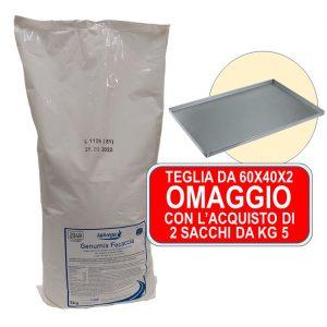 Panificazione – Genumix Focaccia Da Kg.5 – PROMO 2 Sacchetti +  Teglia In OMAGGIO