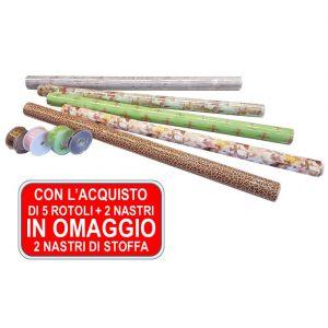 Packaging – PROMO 5 Rotoli Di Carta Polipropilene E Trasparente In Bobina E 2 Nastri + Altri 2 Nastri In OMAGGIO