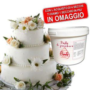 PROMOZIONE Pasta Di Zucchero Bianca CREMES 4 Secchi + 1 In OMAGGIO